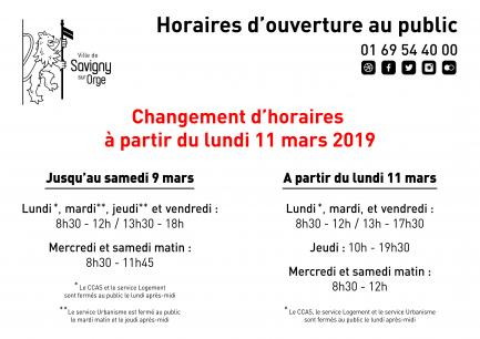 horaire 11 mars